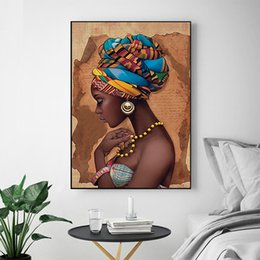 african modern abstract art paintings Australia - MUTU Painting No Frame African Wall Art Single Paintings For Living Room Wall Canvas Modern horse High-quality Poster and Prints