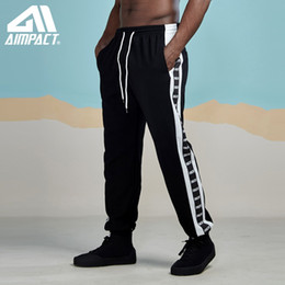 $enCountryForm.capitalKeyWord Australia - AIMPACT Striped Patchwork Harem Pants Mens 2019 New Hip Hop Casual Joggers Sweatpants Fashion Printed Trousers Streetwear AM5057