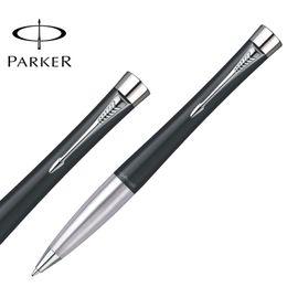 China Luxurious Parker Urban Ballpoint Pen Silver   Golden Clip Business Parker Ball point Pen Writing Office School stationery supplies supplier ball pen clip suppliers