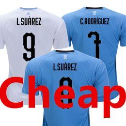 5396c5289fc Uruguay Soccer Jersey 2018 World Cup Luis SUAREZ National Team Home Yellow  Away Blue Football Shirt CAVANI Camisetas Futbol Camisas Maillot