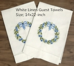 "$enCountryForm.capitalKeyWord NZ - Set of 12 Home Textiles Handkerchief White Linen Hemstitch Tea Towel Cloth Guest Hand Dish Kitchen Bathroom Towels 14""x22""embroidery Floral"