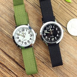 simple boys gift NZ - simple design boys and girls learn to time number quartz watch kids luminous hands tutor nylon sports gift Dibujos de