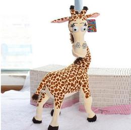Folk Art Christmas Australia - 35cm cosplay Madagascar 3 Long Neck Giraffe Stuffed soft Plush doll Toys for kids christmas gifts