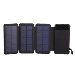 Backup Power For Cell Phone Australia - 10000mAh Waterproof solar power bank Solar Charger External Battery Backup Pack For cell phone Tablets For phone Random color