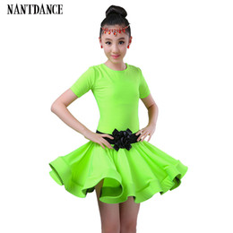 Wholesale ballet dance costumes for kids resale online - Students Children Kid Latin Dancewear Competition Dancing Clothing Girl Dance Costume Child Latin Ballet Dance Dress For Girls