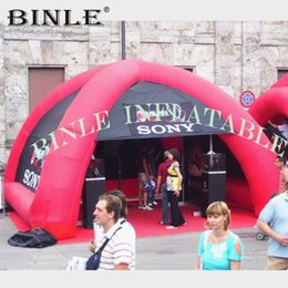 Spider tent online shopping - Custom printing legs red inflatable spider tent with walls blow up mini air dome sun shelter event gazobe for advertising