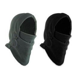 winter fleece face mask NZ - Winter Warm Fleece Beanies Hats for Men Skull Bandana Neck Warmer Balaclava Face Mask Wargame Special Forces Mask T487