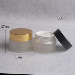 Frosting cream online shopping - 500 X g frosted glass jars ml frost cream jars skin care cream bottles fl oz glass cosmetic containers