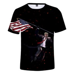 browning clothing apparel UK - 3D Print America Style Mens Summer Designer Tshirts Crew Neck Short Sleeve Fashion Homme Clothing Donald Trump Casual Apparel