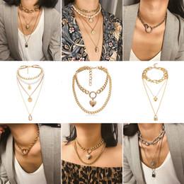 $enCountryForm.capitalKeyWord Australia - Fashion Charm Maxi Chunky Collar Choker Necklaces For Women Gold Silver Girls Chain Jewelry Short Accessories Brincos 2019