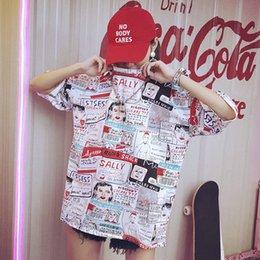 00451392 Casual t Shirt Men women Hip Hop Couple Graffiti Harajuku Streetwear Summer  Funny Cotton Korean Version Camiseta Mens Clothes