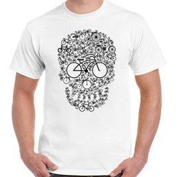 Cycling Cyclist Australia - Bicycle Skull Face Mens Funny Cycling T-Shirt Cyclist Cycle DH MTB Racer Bike