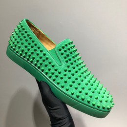 $enCountryForm.capitalKeyWord Australia - new loafer spikes lime army green slip on revits dress wedding beach shoes size 35-46 unisex casual running shoes