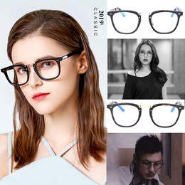 Discount fashionable frame spectacles - Handmade Acetate Optical Myopia Glasses Frame Women Fashionable Spectacle Frames Men's Glasses with Clear Lens ocul