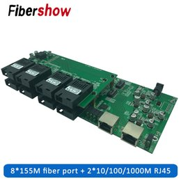 fiber port Australia - Gigabit Industrial Grade Single Mode Single Fiber Ethernet Switch 8 155M Fiber Port 2 1000M RJ45 PCB board