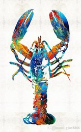 $enCountryForm.capitalKeyWord Australia - -colorful-lobster-art-fusion-Unframed Modern Canvas Wall Art for Home and Office Decoration,Painting ,Animal painting ,Frame painting
