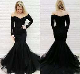 7de19916680 Charm evening dresses online shopping - Charming Mermaid Lace Evening  Dresses Off Shoulder Long Sleeves Illusion