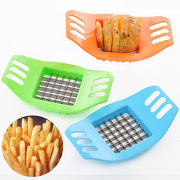plastic chips cutters NZ - Potato Chip Cutter Stainless Steel Cutter Vegetable French Fry Chopper Chips Making Tool Kitchen Gadgets Accessorie
