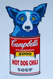 $enCountryForm.capitalKeyWord UK - Blue Dog - Sweetheart Memories -2,1 Pieces Home Decor HD Printed Modern Art Painting on Canvas (Unframed Framed) 16X24.