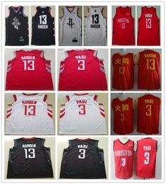 2019 New Style James Harden Jersey Red Black White Color Stitched  Basketball Chris Paul Jerseys Wholesale Cheap Men Shirts 208133f29