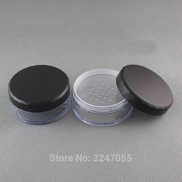 cosmetic beauty jars Australia - 30pcs lot 50ML Big Size Empty Plastic Cosmetic Powder Jar, DIY Travel Portable Loose Powder Case with Sifter, Women Beauty Tool