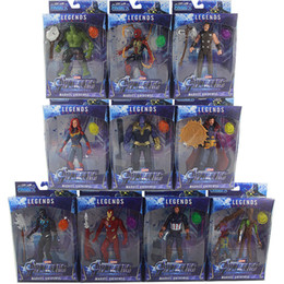 Wholesale 10pcs set Marvel Toys The Avengers Figure with led Superhero Batman Captain America Action Figure Collectible Model Doll