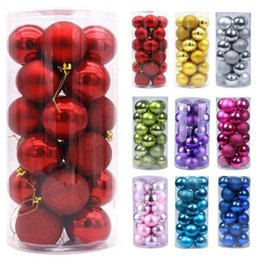 """Wholesale Christmas Tree Decor Ball Xmas Party Hanging Ball Ornament decorations for Home Christmas decorations Gift 24pcs 3cm 1.2"""" balls per box"""