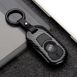 Wholesale Carbon Fiber Matte Protection Key Case Cover for OPEL Astra Buick ENCORE ENVISION NEW LACROSSE Rings Accessorie keychain durable