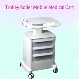 Carts Trolleys Australia - 2019 HIFU Trolley Roller Mobile Medical Cart With Draws Assembled Stand Holder For Salon Spa HIFU Machine