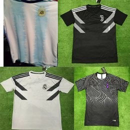 03af673fb 18 game online shopping - 2019 Argentina The latest version white Training  shirt Real Madrid gray