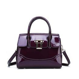 Handbag women 2018 New luxurious soft patent leather tote bag Female bag  designer messenger Large-capacity shoulder 0278e470cb77