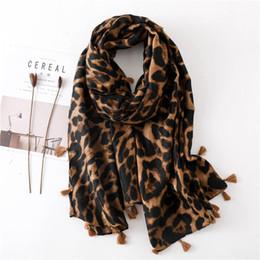 Polka Dot Scarves Wholesale Australia - 2019 Women's fashion sexy leopard polka dots fringe viscose shawl scarf autumn winter wraps and scarves Muslim hijab