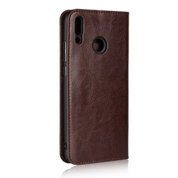 d73e3a18de Cow Phone Case UK - Genuine Leather Case For HUAWEI Y6 Y7 PRIME Y9 2018 2019