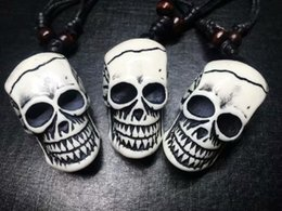 gothic rock cool NZ - Free shipping yqtdmy 15 pcs Faux Imitation Skull Mens Women Punk Cool Gothic Rock Necklace
