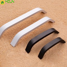 Handles For Kitchen Drawers Australia - Black white Aluminium Alloy Kitchen Cabinet Door Handles Cupboard Drawer Pull For Furniture Accessories Wardrobe Pull Knobs
