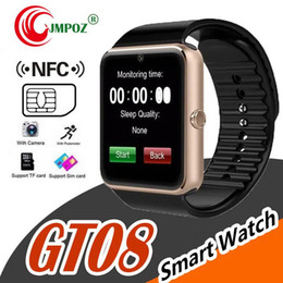 smart watches sim cards NZ - GT08 Bluetooth Smart Watch with SIM Card Slot and NFC Health for Android Samsung and Smartphone Bracelet With Package Better DZ09 U8 V8