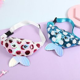 packs sun glasses UK - New cute baby toddler girl waist bag mermaid fishtail sequins fanny pack fashion chest bag mini purse Cute Lovely Gifts 2020