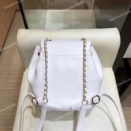 $enCountryForm.capitalKeyWord NZ - 2019 Fashion Import Calfskin Mini Backpack Women's Genuine Leather Double Shoulder Bag with Belt Strap Girl Love Small Backpacks White Black