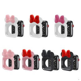 3d cases bow online shopping - 3D Mouse Ears Cartoon Character Case Polka Dot Bow for Apple Watch mm mm Colorful Flexible TPU Cover for iWatch Series