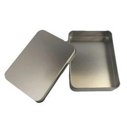 Metal Key Box Australia - Tins Makes Survival Kit Tin Higen Lid Small Empty Flip Metal Storage Box Case Organizer For Money Coin Candy Keys Packaging Tins