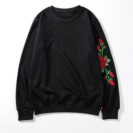 black rose blouse Australia - New Brand Mens Sweatshirt Designer Pullover Rose Stitches Streetwear Hiphop High Long Sleeve Hoodie Luxury Blouse S Letter -Logo B101082L