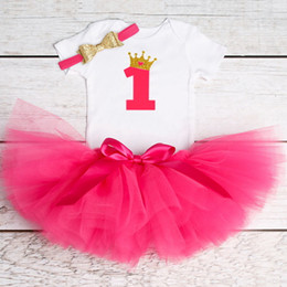 $enCountryForm.capitalKeyWord Australia - Dejo Baby First Birthday Outfits Tutu Tulle 1 Year Party Communion Toddler Christening Gown Fluffy Pink Baby Dresses 1 Birth Y19061001