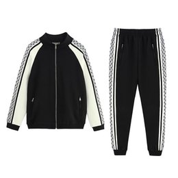 Zip sweatshirt jacket online shopping - Italy Designers Black Technical Jersey Printed Nylon Mens Hoodies ZIP UP Jacket Coat Men Women Sweatshirts Pant Man Trousers BWK35