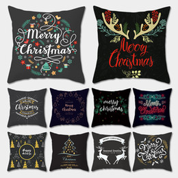$enCountryForm.capitalKeyWord Australia - Merry Christmas Cushion Cover Christmas Tree Cartoon Letter Pillow Case Cushion Cover Luxury Home Sofa 2020 New Year Decoration