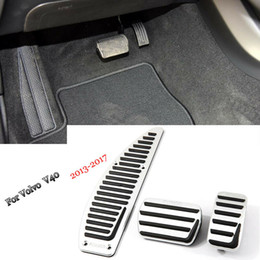 pedals brake gas NZ - Car Alloy Accelerator Gas Brake Footrest Pedal Plate Pad Cover Fit For Volvo V40 2013-2018
