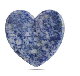 blue tool Australia - Heart Shape Blue Sodalite Gua Sha Scraping Massage Tool Professional Guasha Board Tools Reduce Head, Neck and Muscle Pain