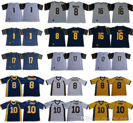 aaron rodgers jersey xl UK - California Golden Bear 8 Aaron Rodgers Jersey College 1 DeSean Jackson 10 Marshawn Lynch 17 Vic Wharton III Melquise Stovall 16 Jared Goff