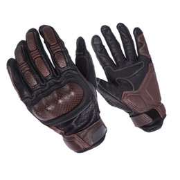 $enCountryForm.capitalKeyWord Australia - Durable full finger sheepskin cycling gloves men motorcycling motocross brown real leather gloves M L XL