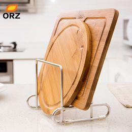 $enCountryForm.capitalKeyWord Australia - wholesale Cutting Board Holder Knife Block Tools Organizer Kitchen Storage Rack Stainless Steel Dish Rack Cutting Boards