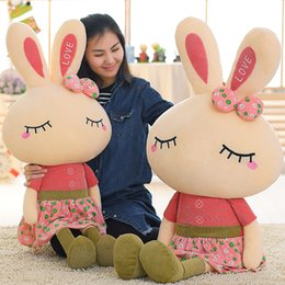 metoo plush toys bunny dolls NZ - 46cm Metoo Lovely Rabbit Little Bunny Plush Toys Small Stuffed Animals Wedding Valentines day Gift Creative Skirt Doll Puppet
